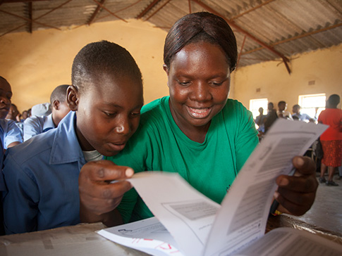 CAMA Learner Guide and student in Wedza District, Zimbabwe