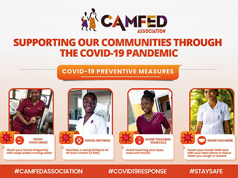 Healthcare workers and members of the CAMFED Association disseminate accurate information on digital platforms.