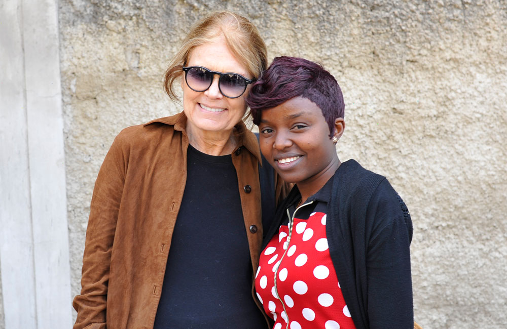 Gloria Steinem meets Camfed alumna Alice, who works with authorities to end child marriage in Zambia
