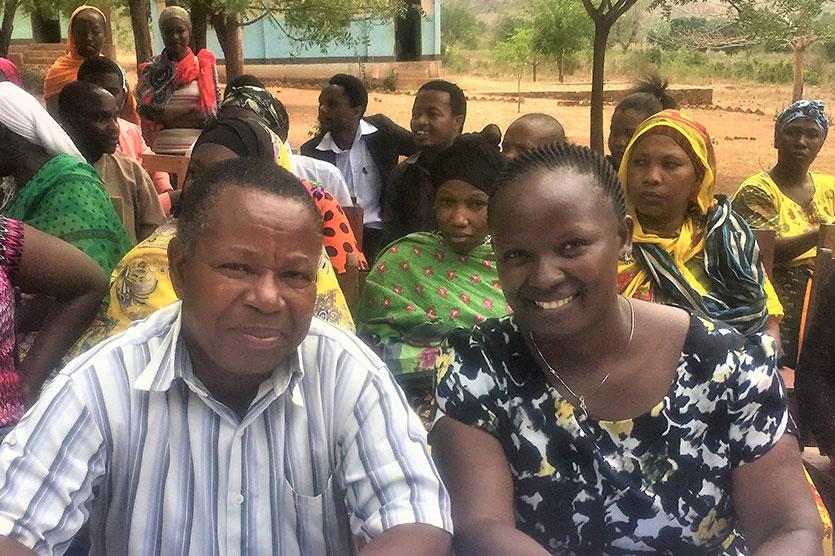 Camfed Tanzania's National Director, Lydia Wilbard, with her former high school teacher