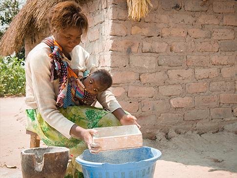 A child bride in rural Zambia