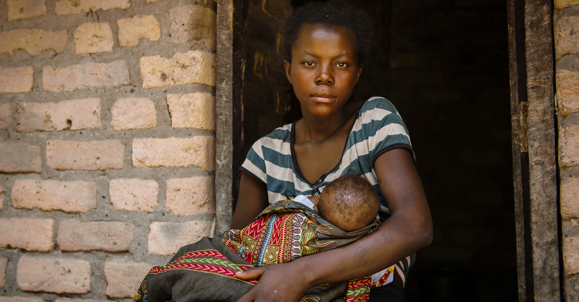 Mary (not her real name), 15, was a child bride. Now she is a widow and single mother. (Photo: Eliza Powell/Camfed)