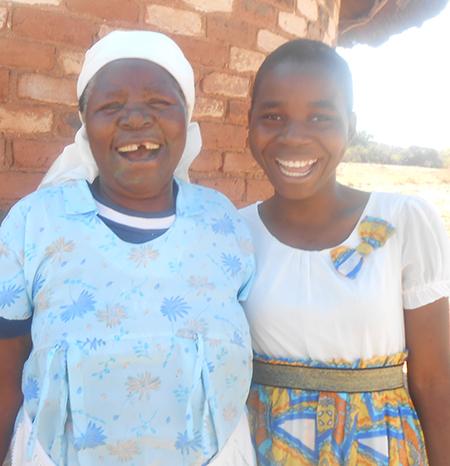 Natasha with her lovely grandmother