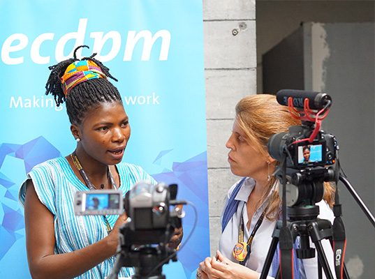 Dorcas Apoore in a video interview at EDD