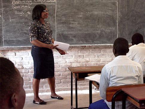 Teacher Mentor Harriet in the classroom