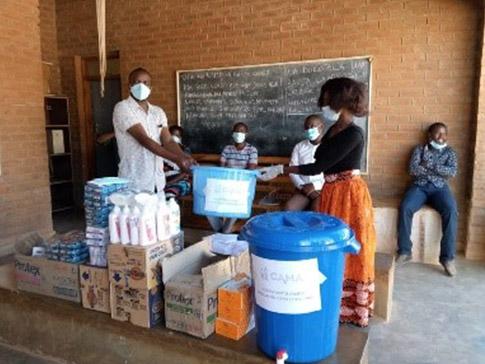 A CAMFED Association donation in Malawi