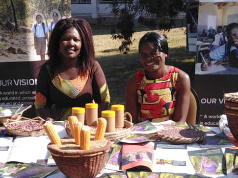 Clarah and Beauty at the biofortification learning event