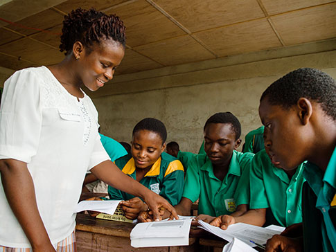 Learner Guide Cecelia introduces students to the 'My Better World' curriculum