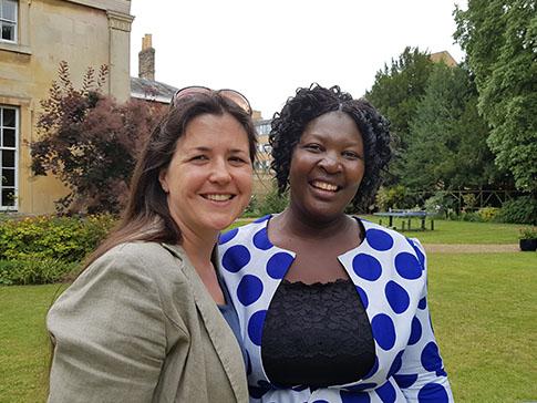Catherine Boyce and Clarah in Cambridge