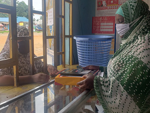 Eva's mobile money business during COVID-19