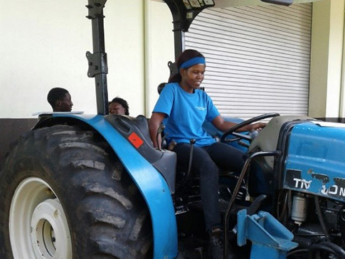Forget operating a tractor whilst at EARTH University