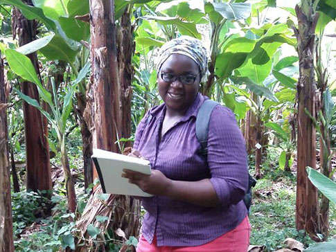 Esnath studies at Earth University, Costa Rica