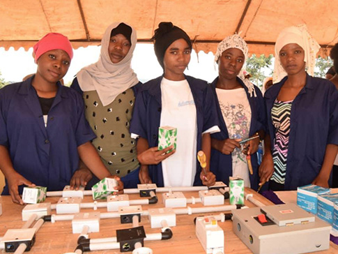 Young women in the CAMFED Association who have recently qualified as electrical engineers