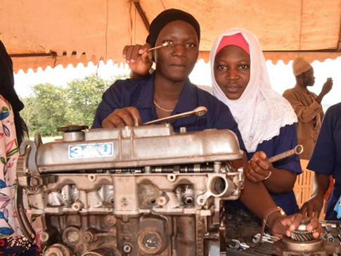 Young women in the CAMFED Association in Handeni District, have recently qualified as mechanical engineers