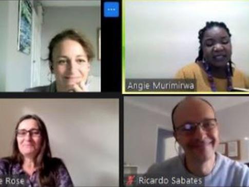 Lucy Lake, Angeline Murimirwa, Pauline Rose and Ricardo Sabates during the online REAL Centre seminar