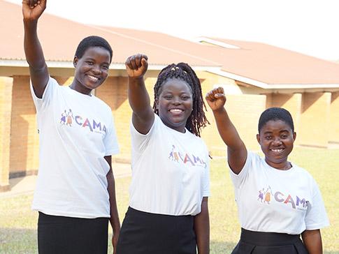 CAMA Leaders Luwiza, Fatima and Rose