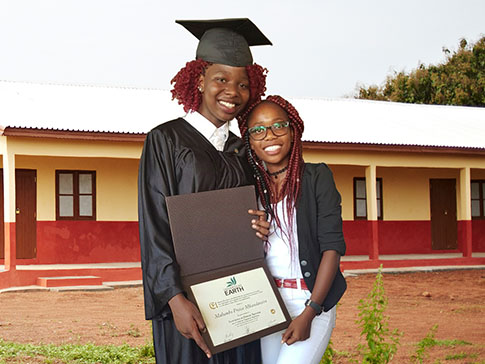 Malumbo at her university graduation