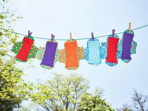 Reusable sanitary pads made by young women in Malawi