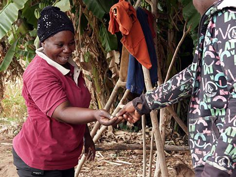 Mwanaisha selling produce