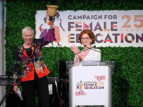 Annie Lennox and Julia Gillard