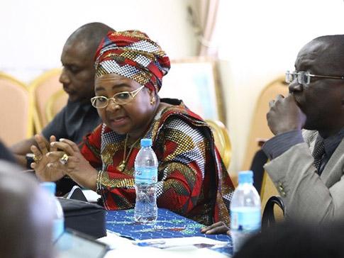 Hon Salma Kikwete at a meeting with CAMFED