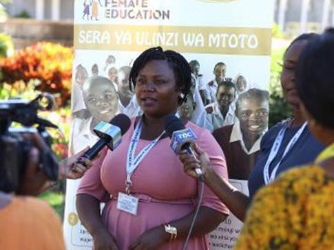 Stumai Kaguna speaks to media.