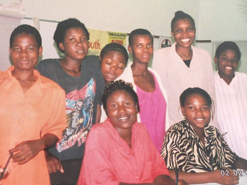 Faith with other CAMA members in 2002