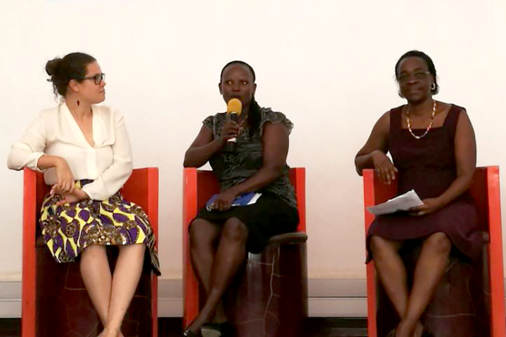Camfed Tanzania's Lydia Wilbard speaks on HDIF panel during Innovation Week