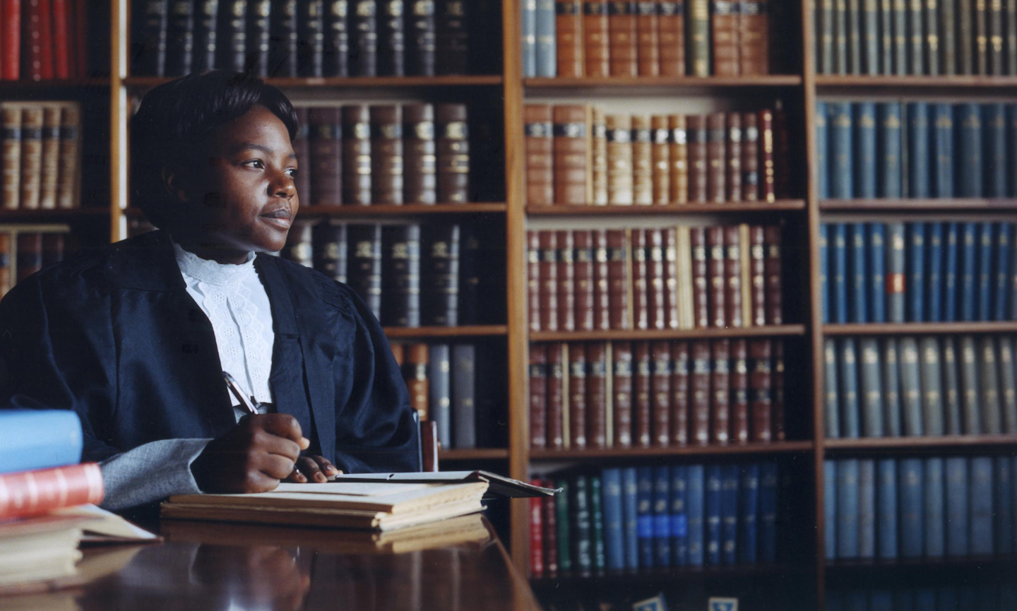 Fiona as a newly qualified lawyer in Harare