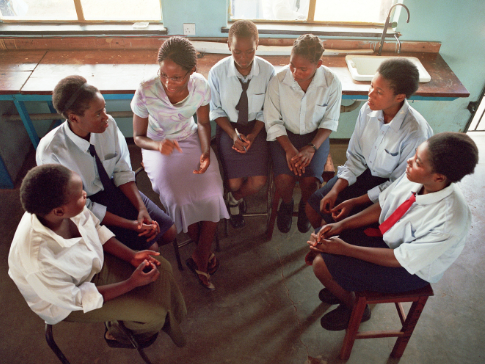 Mentoring at a Camfed partner school in Zambia