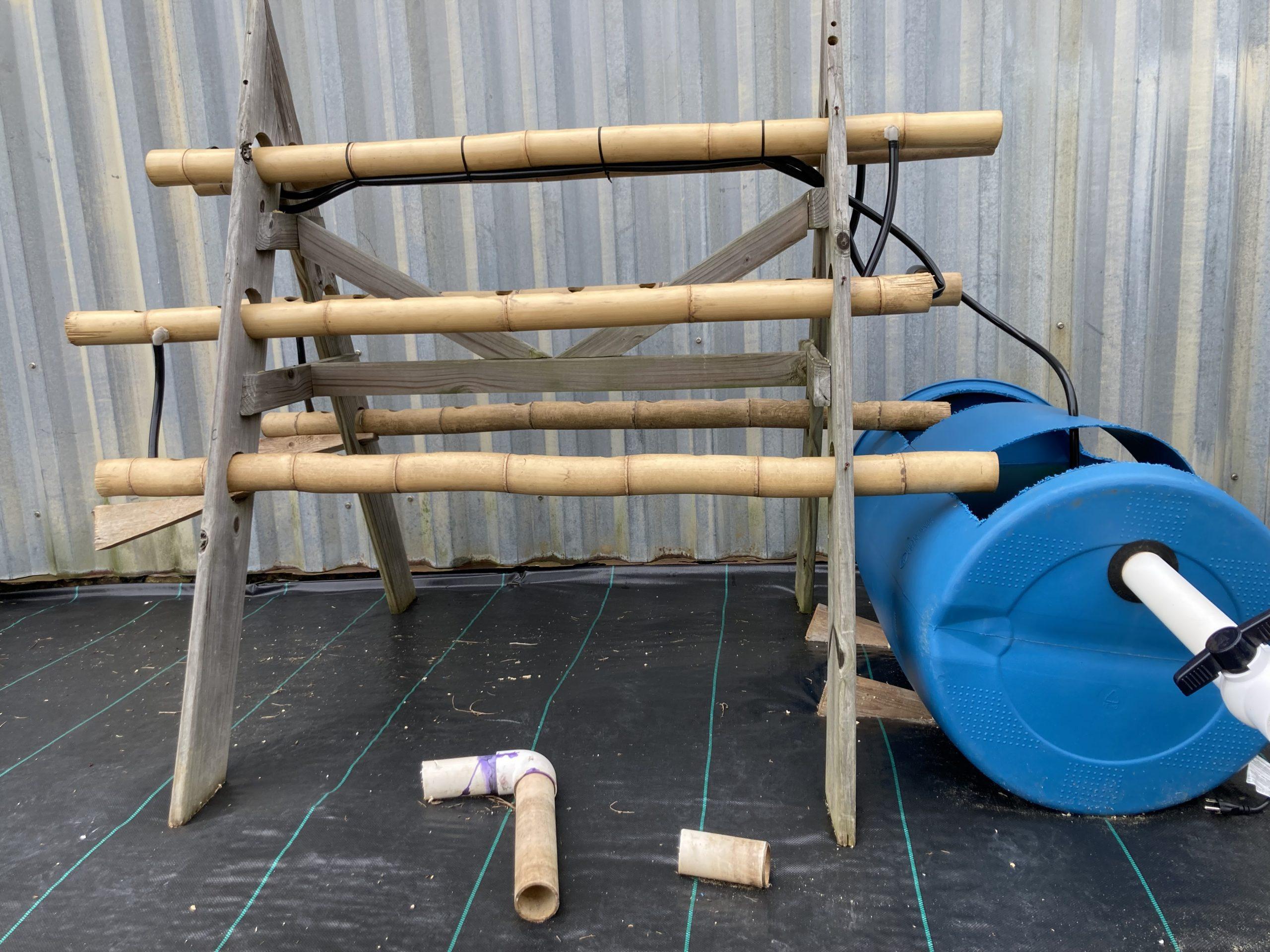 A demonstration aquaponics system