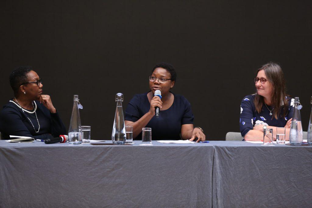 Alicia Herbert OBE, Fiona Mavhinga and Professor Pauline Rose