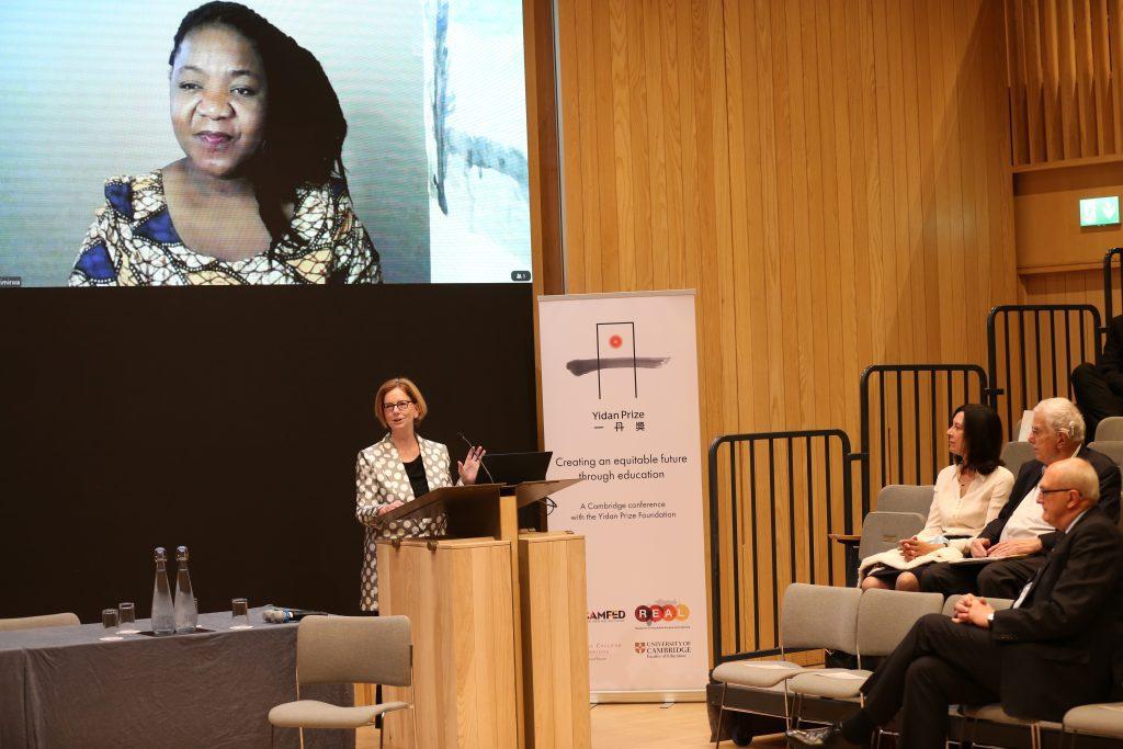 The Hon. Julia Gillard AC speaks at the Cambridge Equitable Future Conference